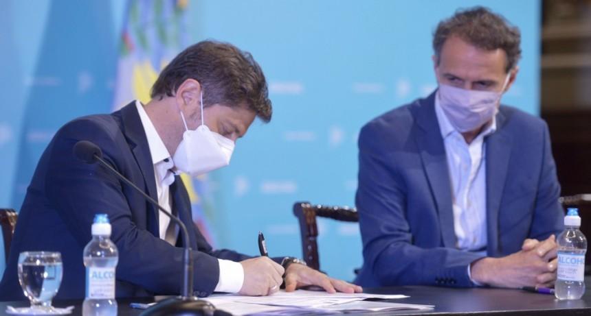 Provincia y Nación firmaron convenios para la repavimentación y ensanche de las rutas N°51 y N°41
