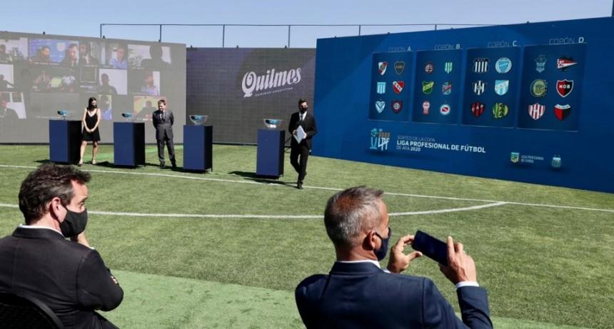 En el predio de A.F.A en Ezeiza se realizo el Sorteo de la Copa de la Liga Profesional