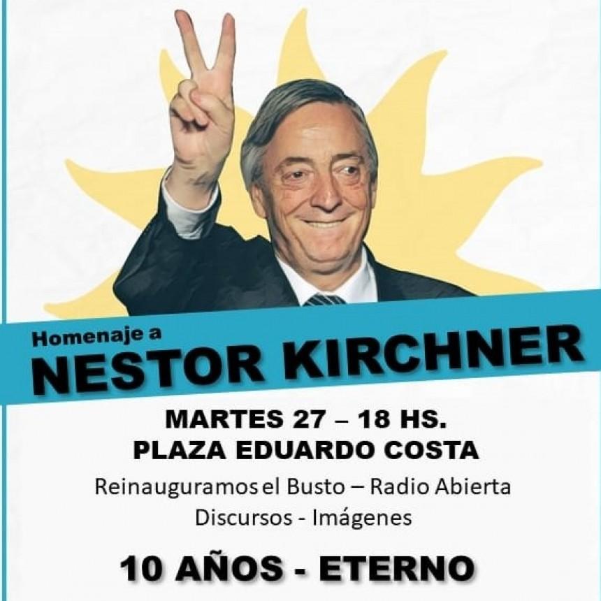 Homenaje a Néstor Kirchner a 10 años de su fallecimiento