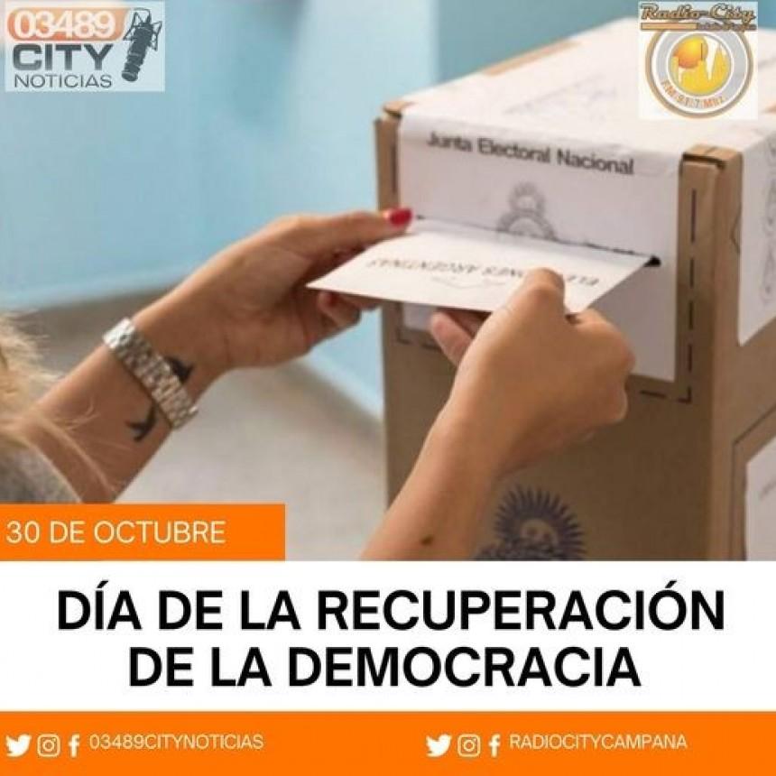 30 de Octubre : DIA DE LA RECUPERACION DE LA DEMOCRACIA