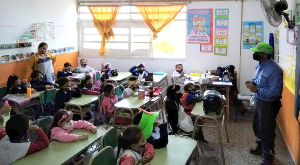 Volvieron las charlas de Educación Vial a las escuelas