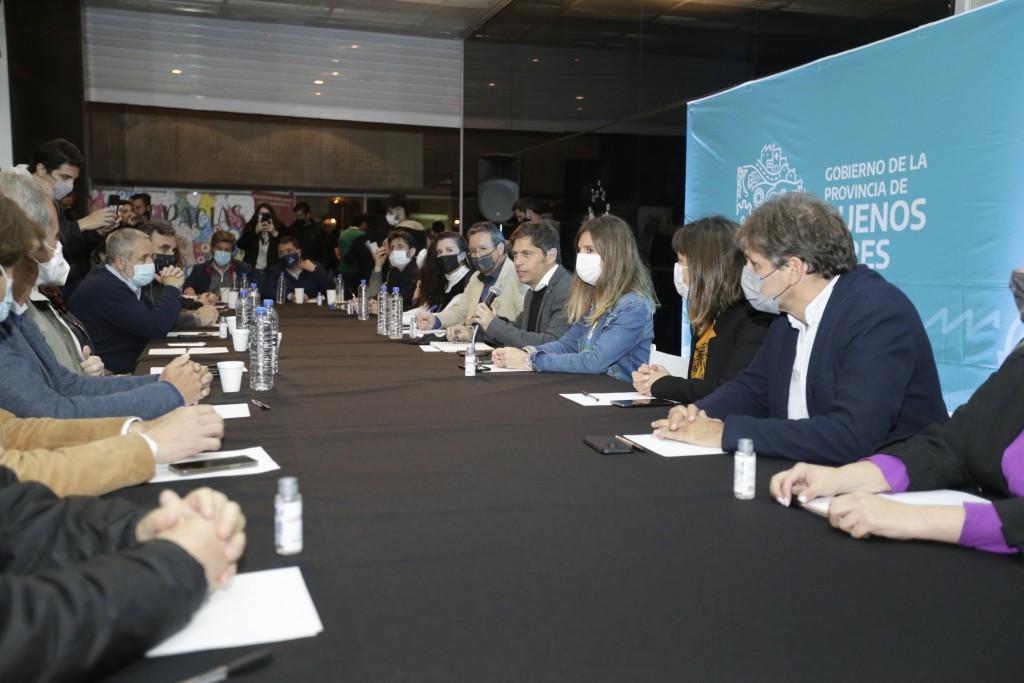 MAR DEL PLATA : Kicillof se reunió con empresarios del turismo y el espectáculo