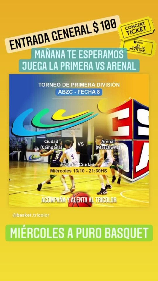 El Club Ciudad juega mañana ante Arenal