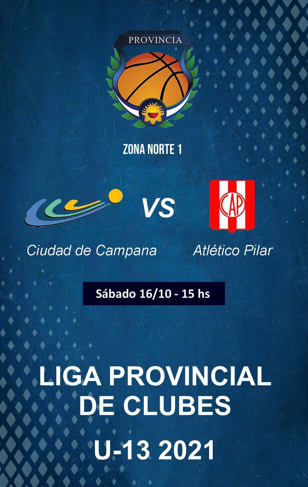 Liga Provincial de Clubes : juega Ciudad como local