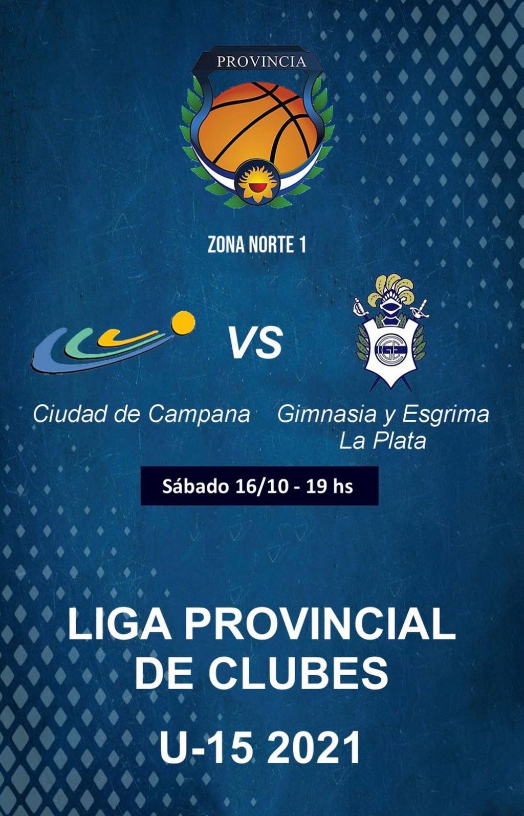 Ciudad de Campana recibe a Gimnasia y Esgrima (La Plata) el sábado