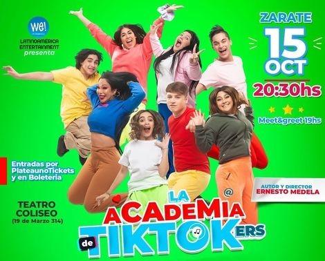 Academia de TikTokers se presenta en Zárate