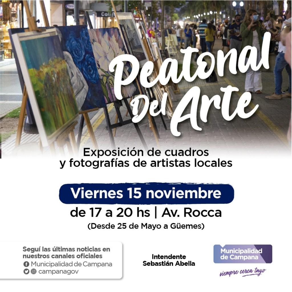 Este viernes regresa la Peatonal del Arte a la avenida Rocca