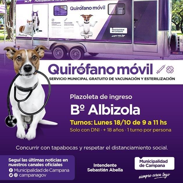 Barrio Albizola: el lunes se entregan turnos para castraciones gratuitas