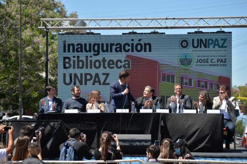 EDUCACIÓN  Kicillof participó de la inauguración del nuevo edificio de la Biblioteca Digital de la UNPAZ