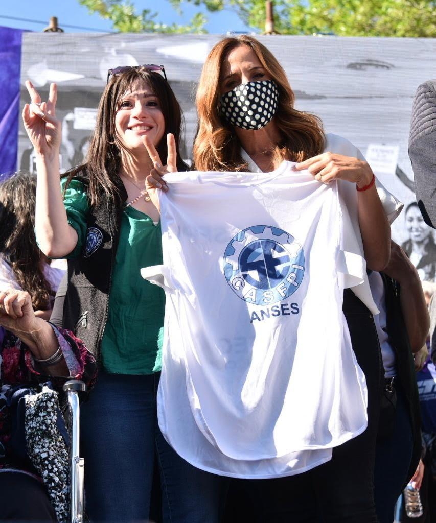 En Berisso  La diputada Soledad Alonso, una de las referentes en el multitudinario encuentro de mujeres trabajadoras