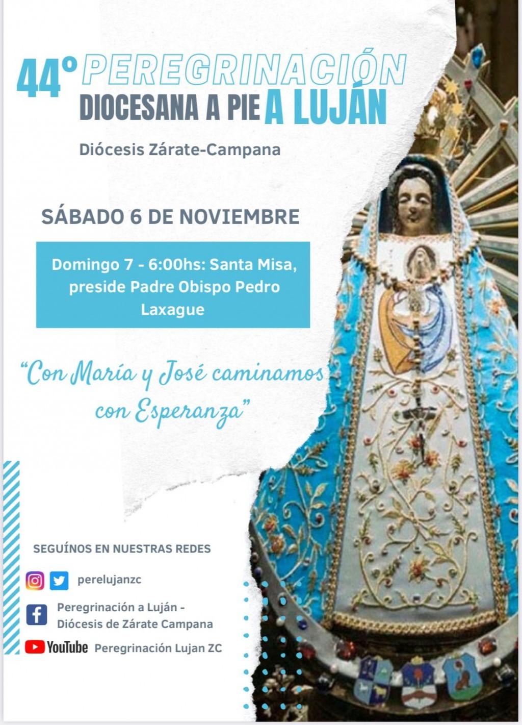 Se realiza la Peregrinación a Luján el sábado 6 de noviembre