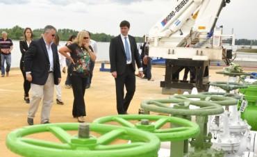 La Intendente Giroldi visitó los avances de la obra de la Empresa Petromining SA