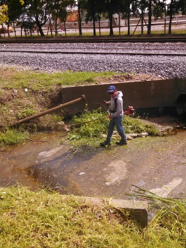 El Municipio realizó tareas de limpieza y mantenimiento integral en la calle Irigoyen