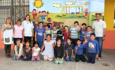 Se realizó una Jornada de Educación Física Infantil en la Escuela Nº 14 del barrio Villanueva