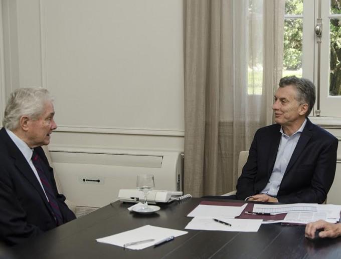Luis Palau se reunió con el Presidente Mauricio Macri