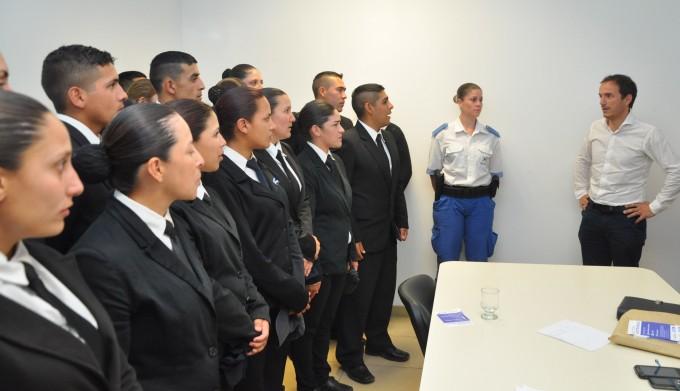 Los cadetes de la Academia de Policía Local se interiorizaron sobre la plataforma de seguridad del Municipio