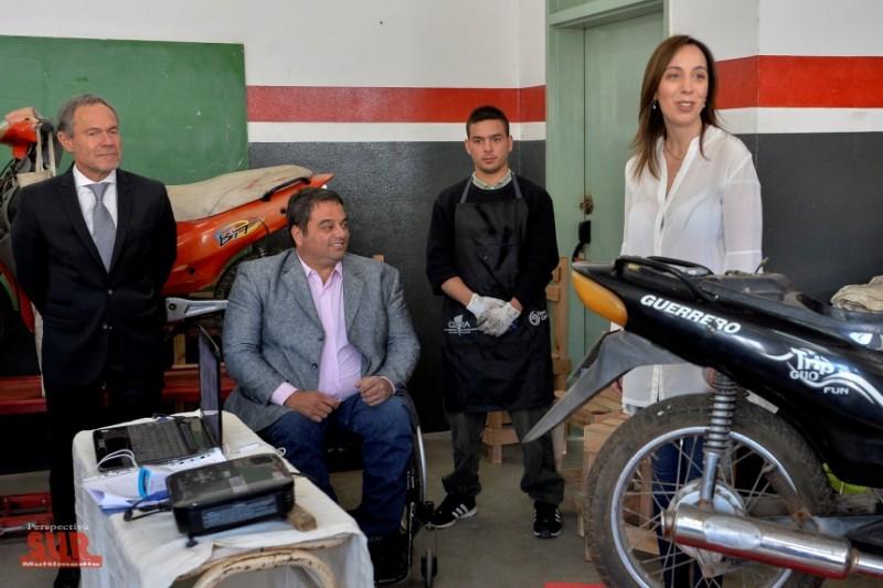 María Eugenia Vidal visitó los talleres de trabajo de la Unidad Penal de Florencio Varela
