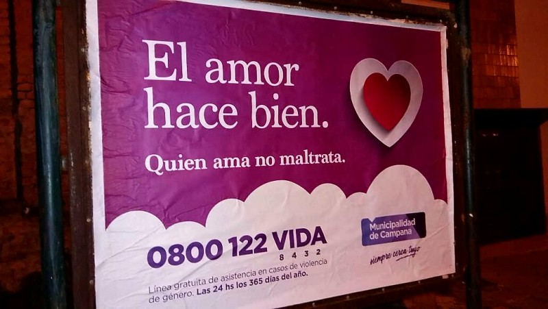 Violencia de género: el Municipio lanzó una campaña publica basada en el amor y el respeto