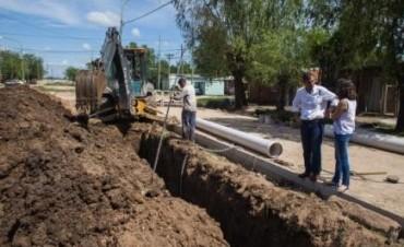 Obra de cloacas en Felipe: ya se completó el 60% del tendido domiciliario