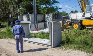 Avanza la obra hidráulica que mitigará las inundaciones en Otamendi