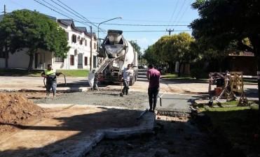Moreno y Salmini: el bacheo con hormigón entró en su etapa final