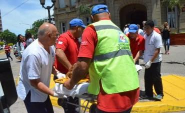 Se realizó un simulacro de incendio en el Palacio Municipal
