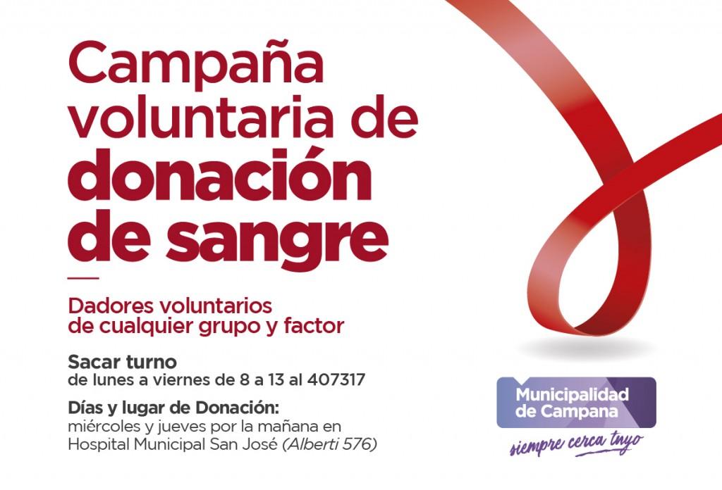 El Municipio continúa la campaña voluntaria de donación de sangre