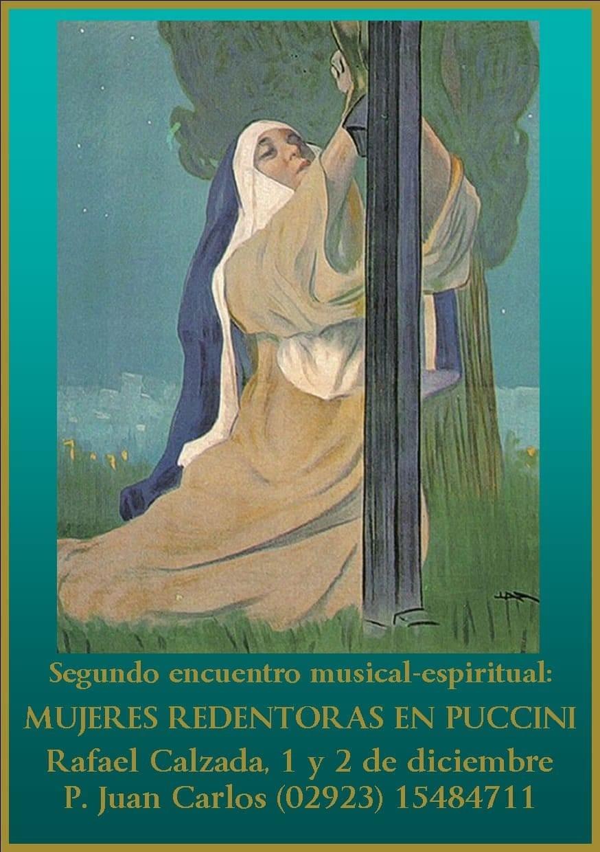 Afiche de difusión  de una propuesta del Padre Juan Carlos Naviliat