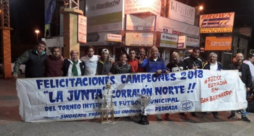 Los Campeones del Torneo de Futbol de los municipales viajaron a San Bernardo.