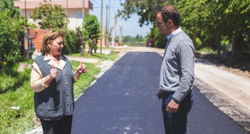 San Jacinto: las obras de asfalto avanzan a buen ritmo