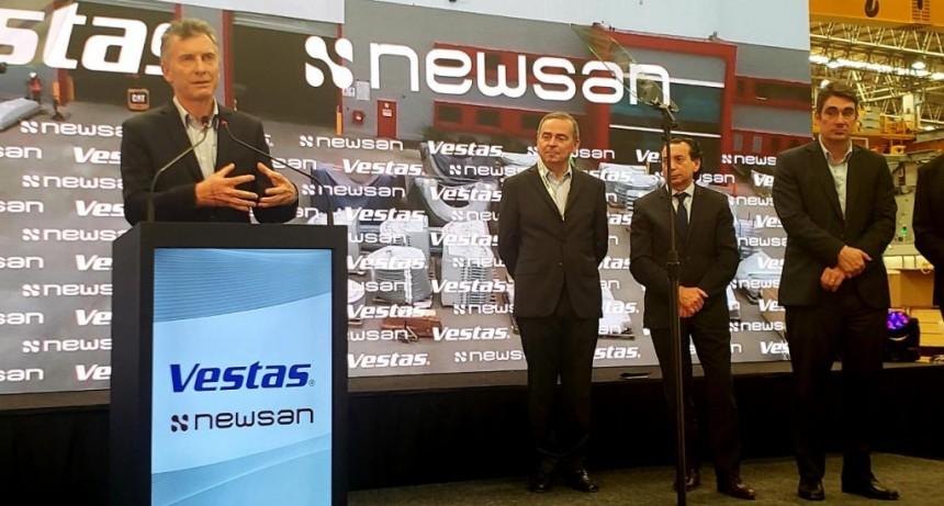 Desde el Municipio destacaron la importancia para Campana de la nueva planta de aerogeneradores