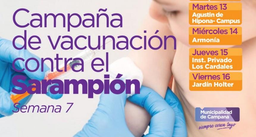Sarampión: el móvil sanitario sigue con las vacunaciones en jardines de infantes privados