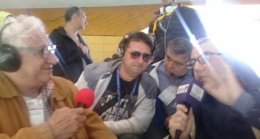 Hugo Balassone en la previa de Boca Juniors vs River Plate