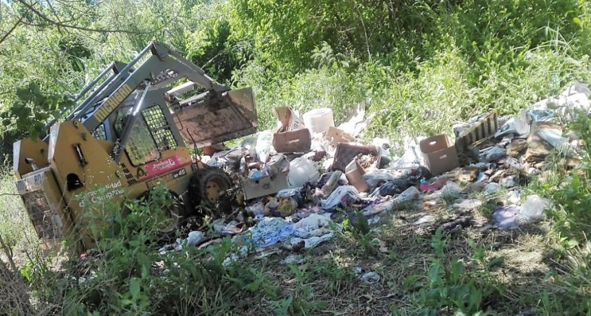 Se realizan tareas de limpieza integral en el ingreso al barrio San Felipe