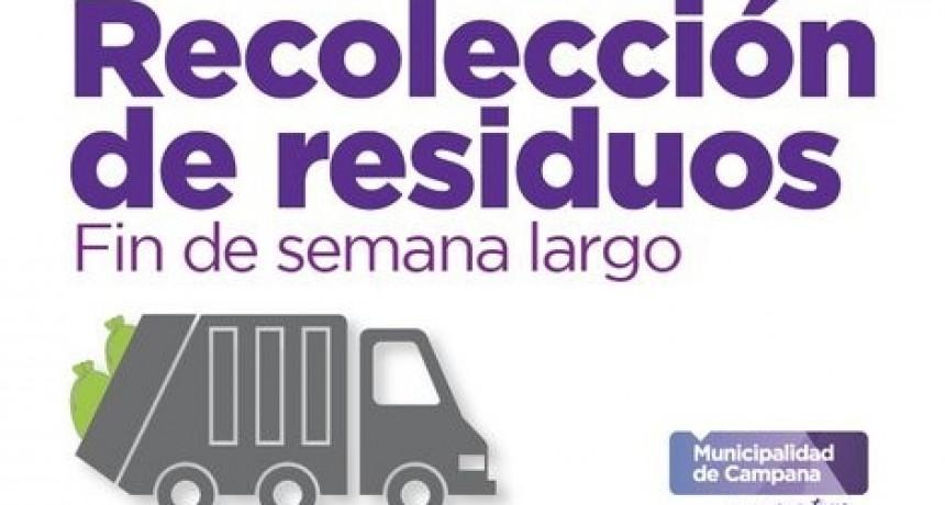 Feriado largo: el lunes no habrá recolección de residuos