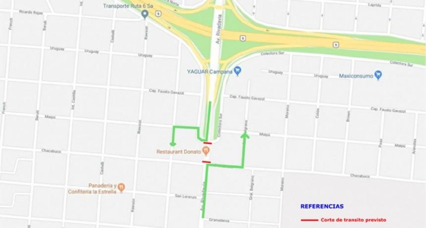 El sábado cortan la avenida Rivadavia para retirar la pasarela peatonal