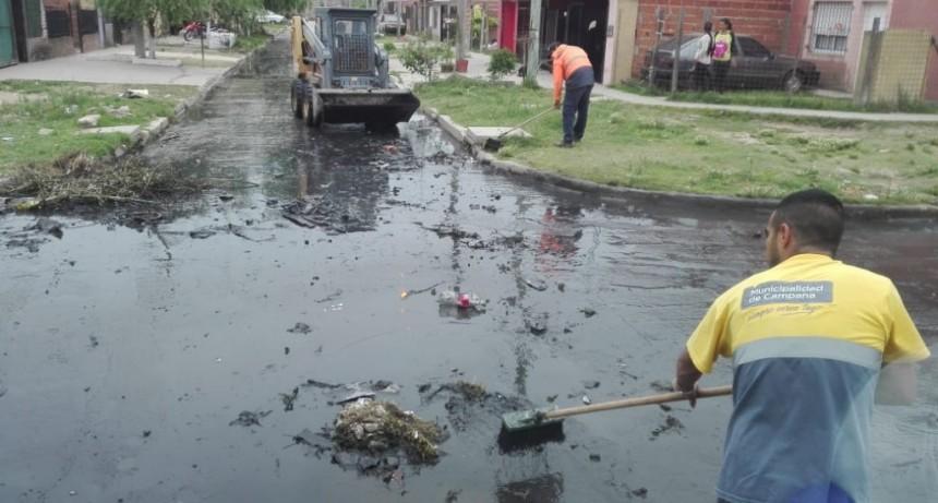 Realizan tareas de limpieza en el barrio Dignidad