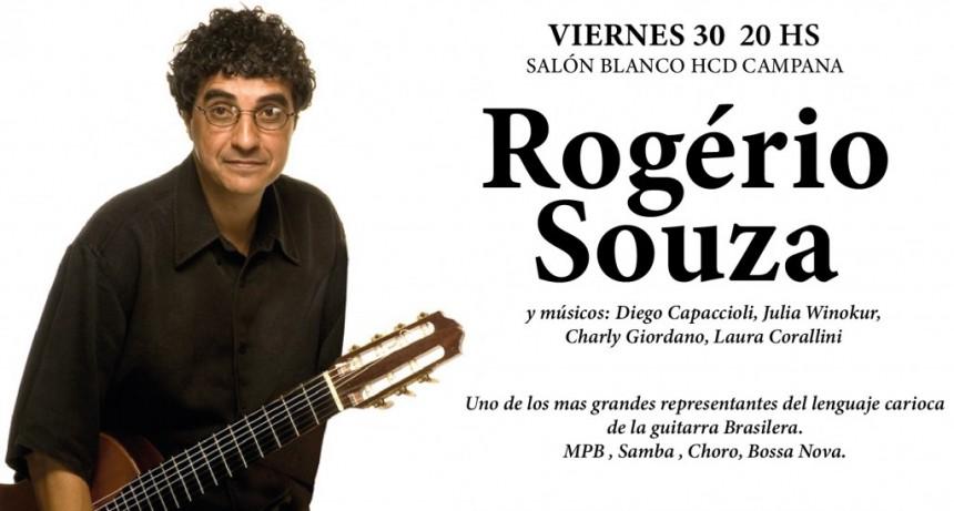 El guitarrista brasileño Rogério Souza llega a Campana