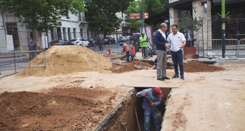 Avanza la obra hidráulica en la cuadra final de la nueva Rocca