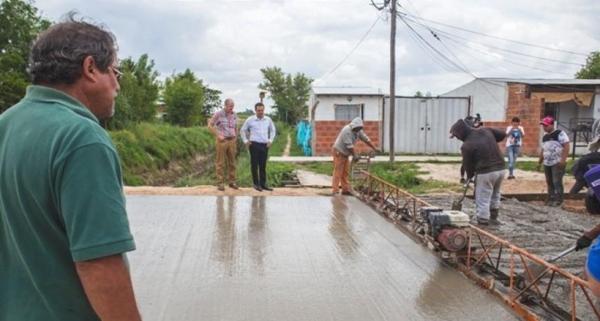 El Municipio finalizó la obra de pavimentación del acceso a Otamendi