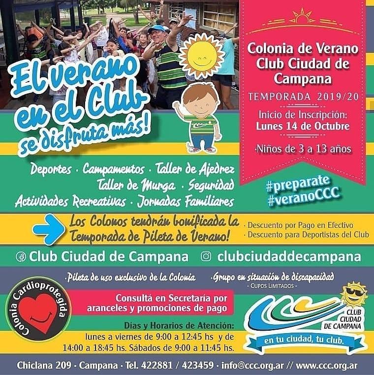 Colonia de Verano: Sigue la inscripción de la Temporada 2019-2020
