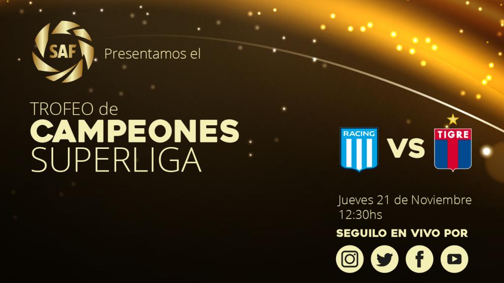 Se presenta el Trofeo de Campeones de la Superliga Argentina
