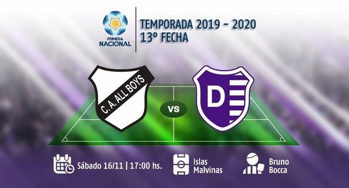Villa Dálmine juega el sábado en Floresta ante All Boys