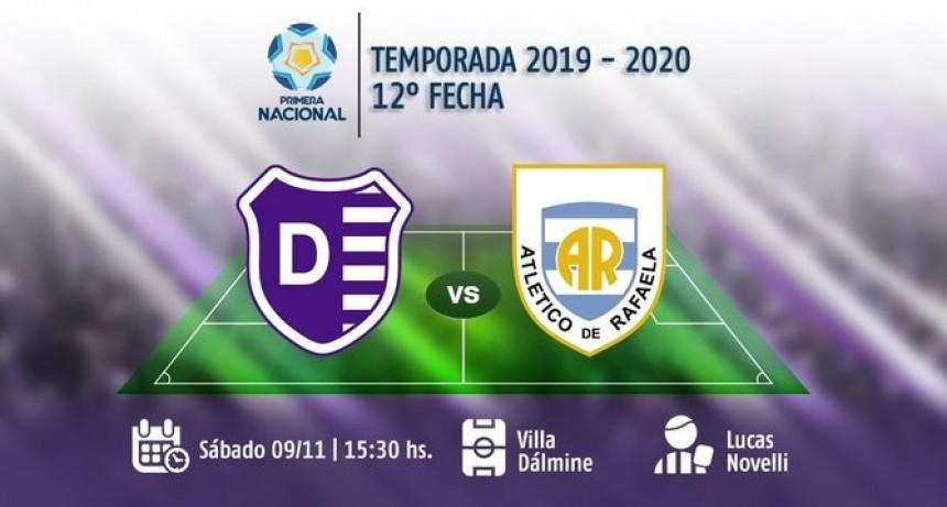 Villa Dálmine juega este sábado recibiendo la visita de Atlético Rafaela