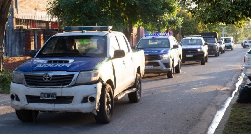 Seguridad: realizan un operativo de saturación en cuatro barrios de la ciudad