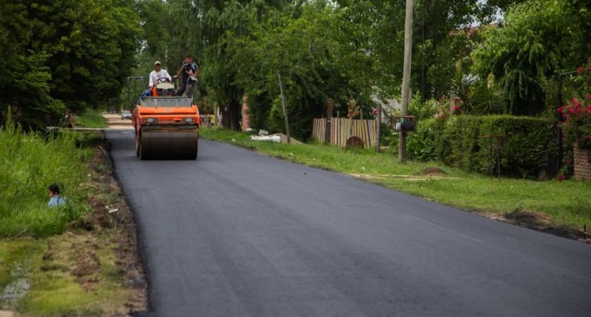 Culminó un importante plan de asfalto en Las Praderas