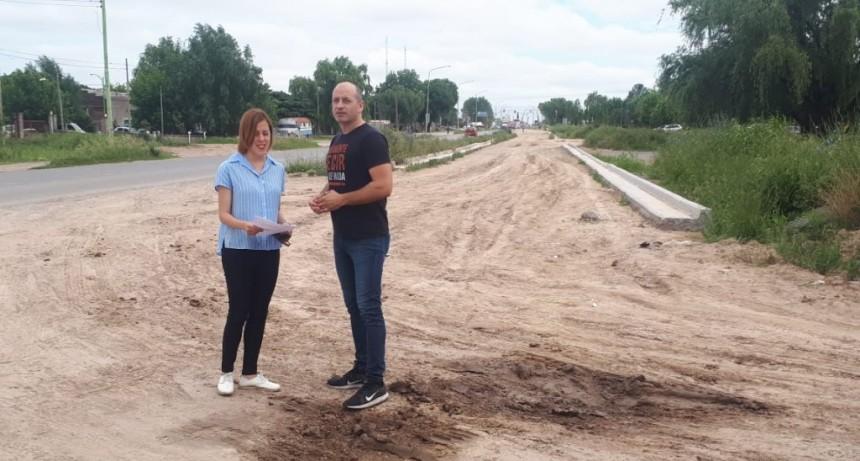 Preocupa la paralización de la obra  de ensanchamiento de la Av. Rivadavia