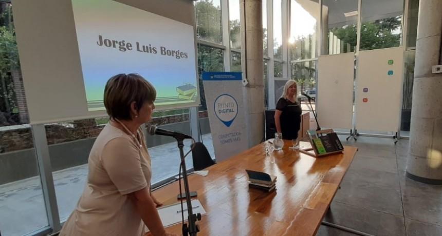 Borges fue homenajeado en la Biblioteca Pública Municipal