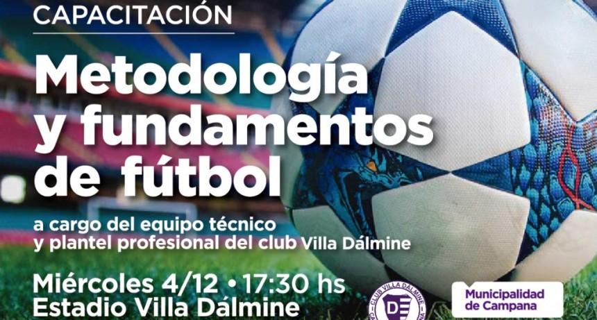 Se realizará una capacitación sobre metodología y fundamentos del fútbol
