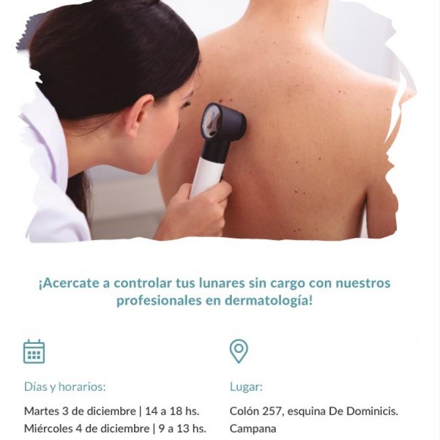 Swiss Medical realiza chequeos gratuitos de la piel en su sede de Campana